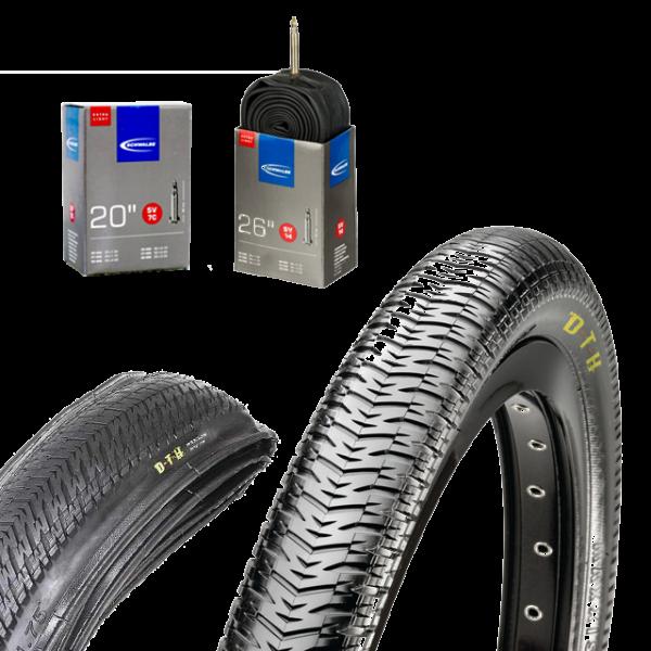 Reifen und Schlauch: Maxxis DTH mit SV7c extra light