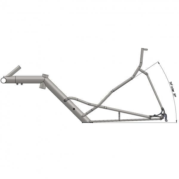 Standardrahmen mit Sitzneigung 30° oder 34°