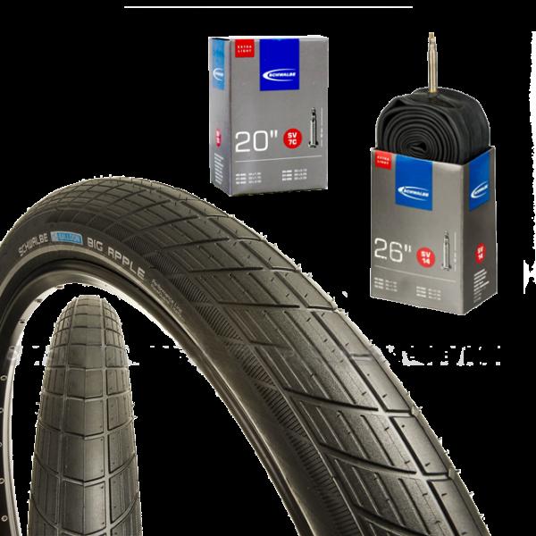 Reifen und Schlauch: Schwalbe Big Apple mit SV7c extra light