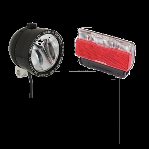 SON Scheinwerfer und Busch & Müller Batterierücklicht für AT1-E